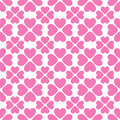 Floral vector seamless pattern with heart shapes