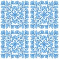 Floral vector seamless pattern in Russian ethnic style.. Royalty Free Stock Photo
