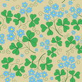 Floral vector seamless texture with blue flowers Royalty Free Stock Photography