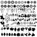 Floral vector set Stock Photos