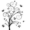 Floral vector tree Royalty Free Stock Photos