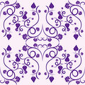 Floral vine grape violet seamless pattern Royalty Free Stock Photo
