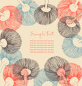Floral vintage banner. Can be used for cards, arts Royalty Free Stock Photo