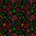 Floral vintage flower seamless pattern vector Royalty Free Stock Photo