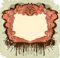 Floral vintage frame with the splats Royalty Free Stock Photos