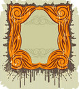 Floral vintage frame with the splats Stock Photography