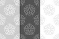 Floral vintage ornaments. Gray seamless patterns for fabric and wallpaper