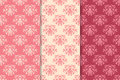 Floral vintage ornaments. Seamless patterns for fabric and wallpaper