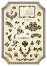 Floral vintage royal design element Stock Image