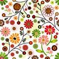 Floral vivid seamless pattern Royalty Free Stock Photo