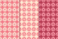 Floral wallpaper. Red seamless patterns. Textile background