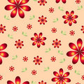 Floral wallpaper with set of different flowers. Royalty Free Stock Photo