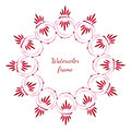 Floral watercolor flowers frame drawing vector frame watercolor design for invitation banner flayer wedding or greeting cards Royalty Free Stock Photos