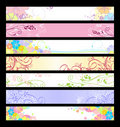 Floral website banners Stock Photo