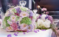 Floral wedding bouquet bunch of flowers fragile color blossoms and petals Stock Photography