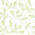 Floral white and light green seamless pattern vector eps Royalty Free Stock Images