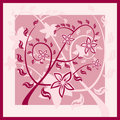 Floral wine red ornament (pattern) with flowers. Royalty Free Stock Image
