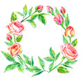 Floral wreath.Garland of a roses branches.