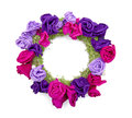 Floral wreath isolated on the white background Stock Images