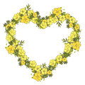 Floral wreath made of exotic flowers Royalty Free Stock Photo