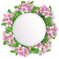 Floral wreath with space for text Royalty Free Stock Images