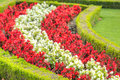 Florascape a landscape of hedges and flowers found in the schonbrunn palace vienna Royalty Free Stock Images