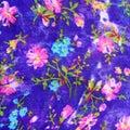Floreal Oriental pattern fabric