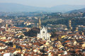 Florence with The Basilica di Santa Croce Royalty Free Stock Images