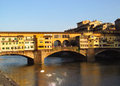 Florence bridge panoramic view Royalty Free Stock Photo