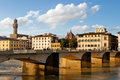 Florence buildings along arno river tuscany italy Royalty Free Stock Photo