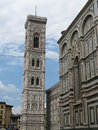 Florence cathedral giotto s belfry and southern side Stock Photography