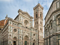 Florence cathedral tuscany italy and bell tower in Royalty Free Stock Image
