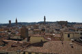 Florence center top view from campanile giotto on the historical of italy Stock Images