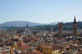 Florence center top view from campanile giotto on the historical of italy Stock Photography