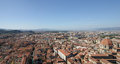 Florence center top view from campanile giotto on the historical of italy Royalty Free Stock Images