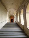 Florence charterhouse tuscany italy stairs to the art gallery certosa di firenze or certosa del galluzzo Royalty Free Stock Photography