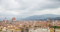 Florence Church Domes and Bell Towers Royalty Free Stock Photos