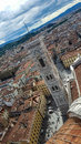 Florence church top view Royalty Free Stock Photo