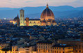 Florence dome, night view, Tuscany Royalty Free Stock Photography