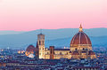 Florence Duomo in the evening pink sunlight Royalty Free Stock Photo