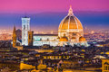 Florence duomo and giotto s campanile panoramic view of from the cupola of tuscany italy Royalty Free Stock Photography