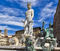 Florence Fountain of Neptune Stock Images