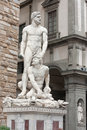 Florence hercules and cacus by the florentine artist baccio ba hercule in italy Royalty Free Stock Photo