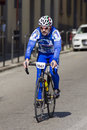 FLORENCE, ITALY - MARCH 2: Competitor during the Granfondo Firenze DeRosa race Stock Images