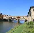 Florence Italy Old Bridge called Ponte Vecchio Royalty Free Stock Photo