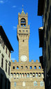 Florence Italy Old Palace called Palazzo Vecchio Royalty Free Stock Photo