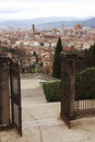 Florence italy old town view from the hill Royalty Free Stock Photos