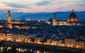 Florence night view, Tuscany, Italy Stock Photo