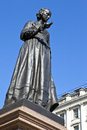 Florence nightingale statue in london of the famous nurse Stock Photos