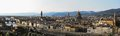 Florence Panorama with major Renaissance Landmarks Royalty Free Stock Image